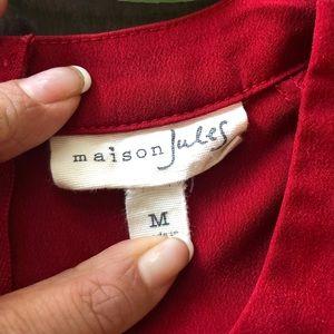 Maison Jules Tops - Maison Jules Red Sheath Tank - Medium